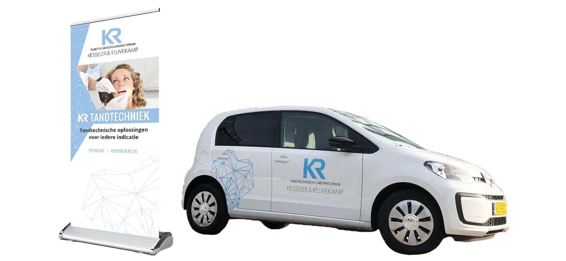 Kesseler & Reuvekamp - roll up banner en autobelettering
